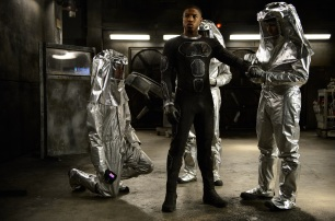 DF-05150 Johnny Storm's (Michael B. Jordan) new powers have scientists searching for answers. Photo credit: Ben Rothstein.